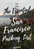 San fran packing list cover