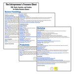 Entrepreneurs treasure chest
