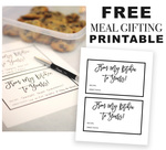 Free meal gifting printable