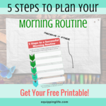 Plan your morning routin  free printable