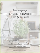 Kitchen and pantry organizing guide