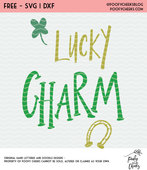 Lucky charm free cut file
