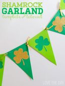 Shamrock garland tutorial template