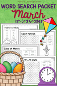 March word search packet