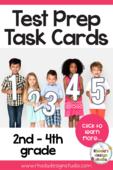 Math test prep task cards rhoda
