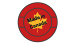Lasertech badge red canadian made %281%29