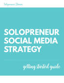 Solopreneur social media strategy gsg cover