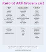 Brown line border grocery list