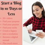 Start a blog on a budget landing