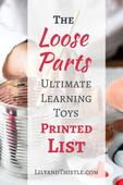 Loose parts printed list