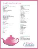 Tea party checklist preview
