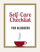 Image for self care for bloggers checklist