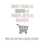 Organic price list