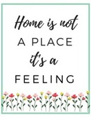 Home is not a place its a feeling 155x200