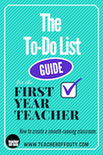 To do list guide for the first year teacher copy
