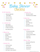 Baby shower checklist opt in printable