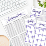 Summertime intentional living planner