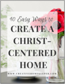 Christ centered home image border