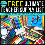 Classroom supply list for new teachers