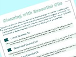 Cleaning with essential oils signup picture