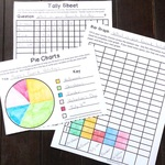 Tally sheet  bar graph and pie chart example
