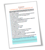 Listening skills checklist