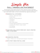Fall trends on pinterest