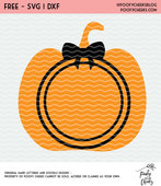 Pumpkin monogram freebie