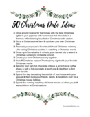 50 christmas date ideas free printable checklist