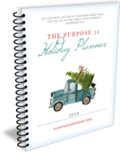 The purpose 31 holiday planner 2018