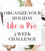 Organize your holiday challenge square