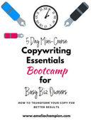 Copywriting essentials bootcamp