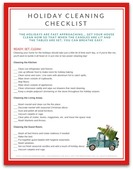 Holiday cleaning checklist