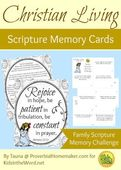 Christian living scripture memory cards romans 12