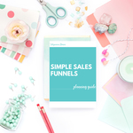 Simple sales funnels planning guide square mockup