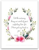 Psalm 143 8 art print 450