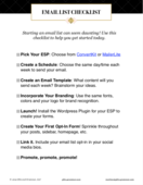 Email list checklist screenshot