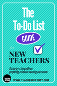 To do list guide for the first year teacher
