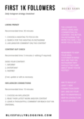 First 1k followers instagram cheatsheet   daily practices