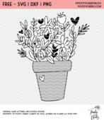 Flower pot flower 01