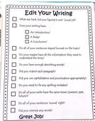 Editing checklist closeup