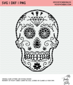 Sugar skull cut file 650x750