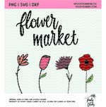 Flower market cut file