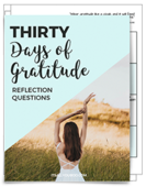 Gratitude cover with pages og form