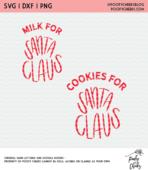 Milk cookies for santa cut file