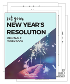New year's resolution printable popup