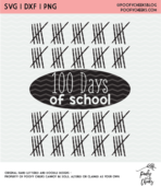 100 days of school cut file