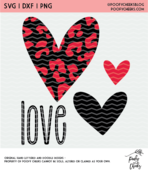 Love hearts cut file