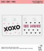 Lollipop valentine cut file