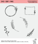 Spring floral doodle cut file